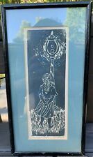 1961 Original Artist Signed Block print Great Condition! Burning Butterfly