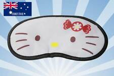 2 x HELLO KITTY FACE Sleeping Mask Eye Mask Eyemask Travel Flight Essential