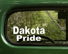 2 DAKOTA INDIAN PRIDE STICKERs Native American Decal truck Window Car Laptop
