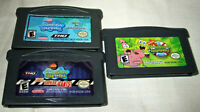 Spongebob Squarepants Nintendo Gameboy Advance GBA Game Lot of 3 TESTED GREAT!