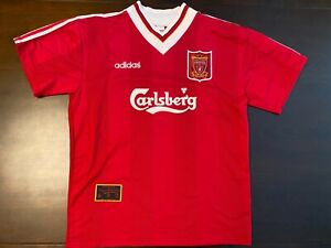 1995-1996 Vintage Liverpool FC Home Soccer Jersey – Size XL