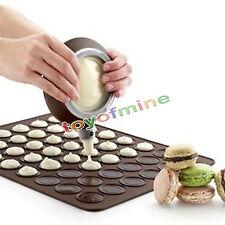 30-cavity Silicone Pastry Cake Macaron Macaroon Oven Baking Mould Sheet Mat