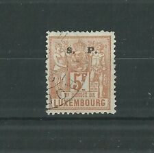 LUXEMBOURG 1882 5FR OFFICIAL SUPERB USED