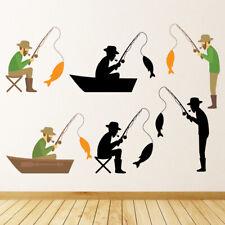 Pescatore Pesca sportiva Set Di Adesivi Murali WS-44601