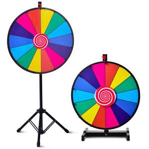 COSTWAY Prize Wheel, Roue de la Fortune 24 Pouces, Trépied 14 Slot Roue