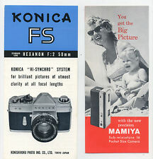 3 old camera leaflets - photography