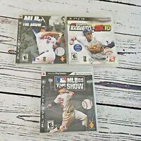PS3 MLB The Show 07, 09 & 2K10 Bundle PlayStation 3 Baseball Game Lot Free Ship