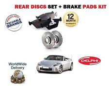 für Nissan 350Z 2003-2009 3.5 Coupe Cabrio NEU Bremsscheiben SET HINTEN + Belag