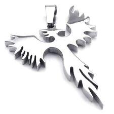 Bijoux Pendentif Collier Homme - Chaine - Phoenix Oiseau de Feu - Tribal - G5S8