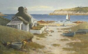 Warren Williams - Watercolour Painting - Cottage at Cemaes, Anglesey. Welsh Art.