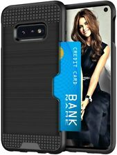 Samsung Galaxy S10e Phone Case Shockproof Wallet Card Holder Protective Cover
