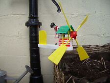 Retro Vintage Type Well Winding Whirligig, Whirlygig, Garden Windmill,