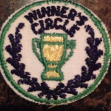 Vintage Winner's Circle Trophy Patch Iron or Sew on NOS