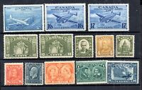 Canada QV-KGVI mint collection Cat Val £175+ odd fault WS21357