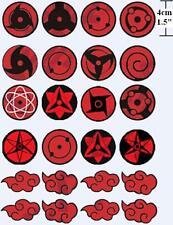 Anime Cosplay Body Sticker Naruto Uchiha Sasuke Sharingan Sign Temporary Tattoo