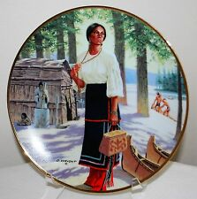 """Hamilton Collection """"Lily Of The Mohawks"""" Plate David Wright w/Coa 1989"""