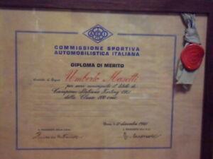 masetti umberto. diploma di merito 1961 -