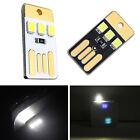 5 pcs Portable USB 3 LED Light Pocket Card Lamp Night For Laptop Power Bank Set*
