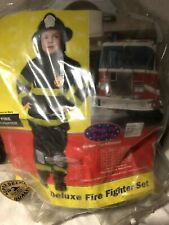 Firefighter Costume With Helmet, Kids Size 8