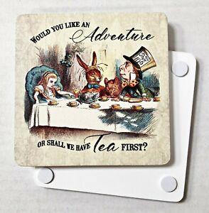 Would You Like An Adventure... Alice In Wonderland Melamine Coaster (og)