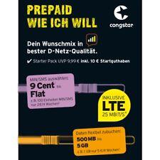 Congstar Prepaid Handy SIM Karte 10 ? Guthaben T-Mobile D1 Netz T-Com xtra Card
