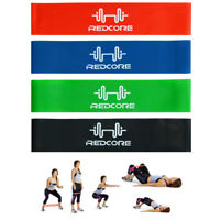 Set Of 4 Resistance Yoga Bands Loop Exercise Workout Cross Fitness Stretching