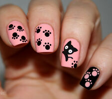 1 Sheet Black Cat Pattern Nail Art Water Decals Transfers Sticker #BLE1498