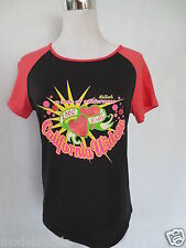 Cult T-SHIRT KILLAH by SIXTY M L 36 Love Hate Nero Rosa Tip top/d11