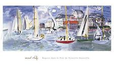 """DUFY RAOUL - REGATES DANS LE PORT DE TROUVILLE - ART PRINT POSTER 24""""X40""""(1111)"""