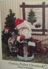 Father Christmas Pattern Mini Quilt Santa Claus Doll