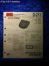Sony Service Manual D 211 CD Player (#0273)