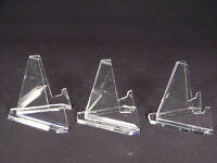 Lot 3 MED Acrylic Easel Display Stand For - Artifacts - Collectibles - Fossils