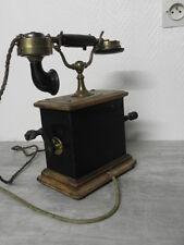 antique PHONE TELEPHONE ART DECO RETRO Crank wood vintage century