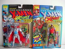 1992 ToyBiz X-Men X-Force figures (2):STRYFE & G.W. BRIDGE ( FREE SHIP / GIFT)