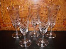ANCIENNE COUPE A VIN DE CHAMPAGNE EN VERRE x 5 / FLUTE VERRE RAISIN GLASS (n°19)