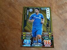 2015/16 MATCH ATTAX DIEGO COSTA CHELSEA  GOLD LIMITED EDITION CARD