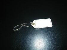 COACH  PURSE BAG Rectangular CHARM TAG WHITE CROCK EMBOSSED Leather NEW