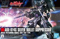 BANDAI GUNDAM HIGH GRADE - ARX-014S SILVER BULLET SUPPRESSOR 1/144 MODEL KIT