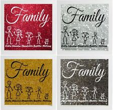 Personalised Stick Family - Decal Vinyl Graphic Sticker