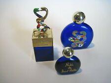 Niki de Saint Phalle Lot of 3 Cobalt Blue Fragrance Bottles, 2 Empty 1 w/content