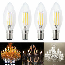 4x 4W B15 C35 Vintage Filament LED Candle Globe Light Bulb SBC Small Bayonet Cap