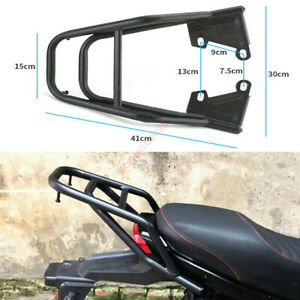 Black Luggage Rack Tool Box Bracket Seat Extension For Motorcycle Modification