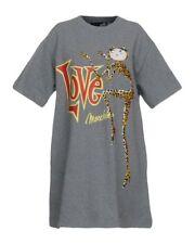 Love Moschino  Women's Gray Catz Print Sweat Dress size UK8/40/S RRP£240