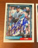 1992 Topps Traded Card #17T Jim Bullinger Signed Auto Autograph Cubs
