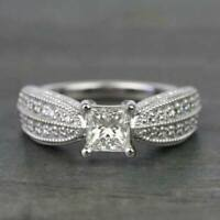 2.50Ct Princess Cut Gorgeous Diamond Engagement Women's Ring 14K White Gold Over