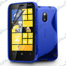 Housses Coque Etui Bleu TPU S Silicone GEL Motif S Vague Films Nokia Lumia 620