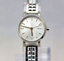 New DKNY NY2277 MINI Bryant Park Silver Studded Band Women Bracelet Watch