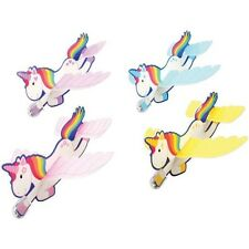 12 Unicorn Foam Gliders Air Plane Toy Princess Party Goody Loot Bag Favor Supply