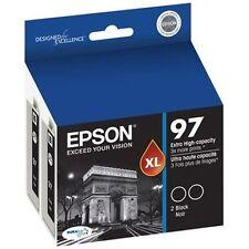Epson GENUINE 97 Black Ink T097120-D2 (2 pks)  for NX510 NX515 WF 600 610 615 40