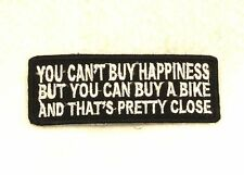 YOU CAN'T BUY HAPPINESS Small Badge for Biker Vest Motorcycle Patch